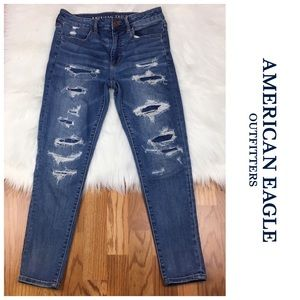 AEO Distressed Super Stretch Jeans